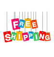 colorful hanging cardboard tags - free vector image