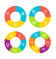 template circles for your business presentation vector image