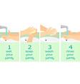 washing hands instruction flat bacground vector image
