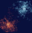 abstract composition with particles following vector image vector image