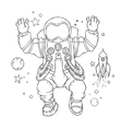 an astronaut in space suit and vector image vector image