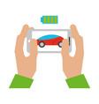 autonomous car transport vector image