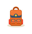 backpack education design vector image vector image