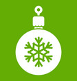 ball for the christmas tree icon green vector image vector image