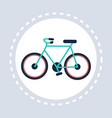 bike icon active healthy lifestyle concept flat vector image vector image