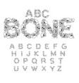 bone abc skeleton font letters anatomy skull and vector image vector image