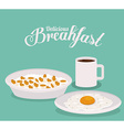 Breakfast design vector image vector image