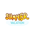 Caption Summer Vacation vector image vector image