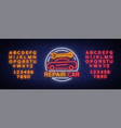 car service repair logo neon sign emblem vector image