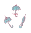 Cartoon umbrellas flat sticker icon vector image vector image