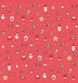 christmas and happy new year pattern winter vector image vector image