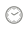 clock icon line time symbol vector image vector image