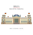 colorful reichstag building vector image