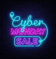 cyber monday discount sale concept vector image vector image