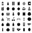 different beverage icons set simple style vector image vector image