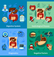 digestive system icon set vector image