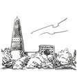 emin minaret vector image