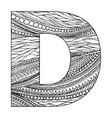 entangle stylized alphabet - letter d