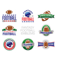 Fantasy Football Emblems vector image vector image