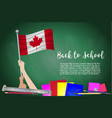flag of canada on black chalkboard background vector image