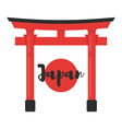 flat style of Japanese traditional gate vector image vector image
