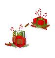 flat winter holiday symbols objects set vector image vector image