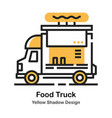 Food truck lineal color