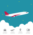Global Airline Infographic with cloud vector image vector image