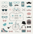 Hipster Retro Vintage Doodle Icon Set vector image