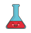 kawaii chemical flask icon vector image