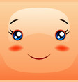 kawaii cute face funny smiling muzzle vector image