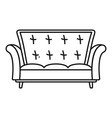 leather sofa icon outline style vector image vector image