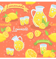 Lemonade Seamless Pattern Orange vector image