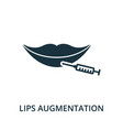 lips augmentation icon from plastic surgery vector image vector image
