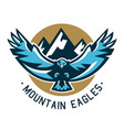 logo eagle hawk flying in the mountains wild vector image vector image