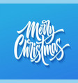 merry christmas drop shadow lettering vector image vector image