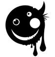 mutant happy icon stencil vector image vector image