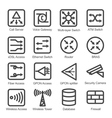 Network Equipment Icon Set vector image vector image