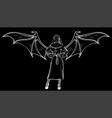 nun in black background vector image vector image
