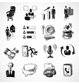 Office sketch icons set vector image
