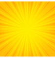 orange sunburst banner vector image vector image