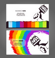 painting business card for painter vector image vector image