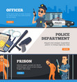 police banners urban security police officer vector image
