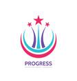 progress - logo template concept vector image vector image