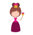 queen without face and crown and scepter in dress vector image vector image