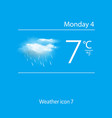 Realistic weather icon clouds with rain vector image vector image