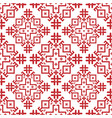 red-and-white geometrical seamless pattern vector image