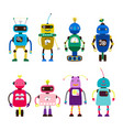 robots for girls and boys isolated on white vector image vector image