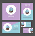 set corporate branding cake with cream vector image vector image