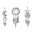 set of hand drawn dream catchers ornate ethnic vector image vector image